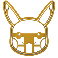 pikachu face.fw.png Download STL file Pokemon Pikachu cookie cutter face • 3D printing model, LALTEZ3D