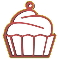 cupcake muffin 2.png Download STL file muffin cupcake 2 cookie cutter • 3D printing template, LALTEZ3D