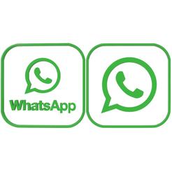 whatsapp logo x2.fw.png Download STL file 2 logos whatsapp cookie cutters • 3D print template, LALTEZ3D