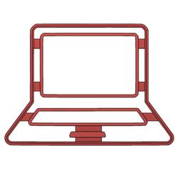 laptop display.fw.png Download STL file cookie-cutter laptop • 3D print template, LALTEZ3D