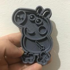 George pig.jpeg Download STL file George pig by Peppa pig on roller skates Cookie cutter • 3D printable model, LALTEZ3D