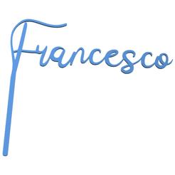 francesco topper.fw.png Download STL file french custom topper cake • 3D printable model, LALTEZ3D