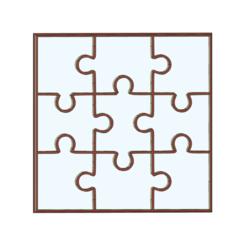 puzzle 9 piezas junto v1.png Download STL file COOKIE CUTTER cookie cutting PUZZLE • 3D printer template, LALTEZ3D