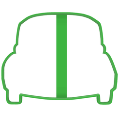 fusca parte de atras contorno display.fw.png Download STL file Vw Volkswagen Fusca Käfer Beetle cookie-cutter • 3D printer design, LALTEZ3D