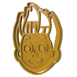 RYDER FACE PAW PATROL v3.fw.png Download STL file Rider paw patrol cookie cutter • 3D printable template, LALTEZ3D