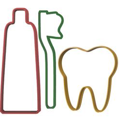 cepillo muela pasta de dientes.fw.png Download STL file toothbrush grinding wheel cookie cutter • Template to 3D print, LALTEZ3D
