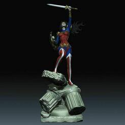 Term 32 Julio Wonder Woman.JPG Download STL file Wonder Woman DC Comics Justice Leage Wonder Woman STL Files 3d printing • 3D print model, cgpyro