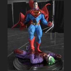 Superman full body.JPG Download STL file Superman kill the Joker from DC Comics Injustice STL 3D printing 3D print model • 3D printer object, cgpyro
