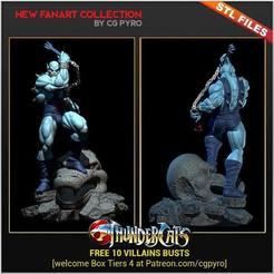 Download 3D printing templates Thundercats Panthro STL for 3D printing Fanart Term 28 3D print model, cgpyro