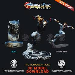 Download STL files Thundercats Tygra STL for 3D printing Fanart 3D print model, cgpyro