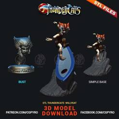 Download STL files Willykat from Thundercats file STL for 3D printing Fanart 3D print model, cgpyro