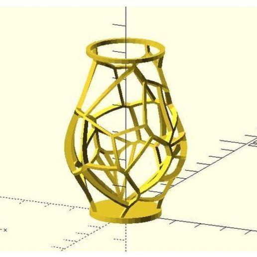 Download free 3D printer designs Voronoi vase, JustinSDK