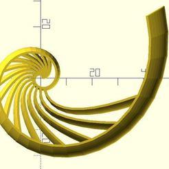 nautilus_shell1.jpg Télécharger fichier STL gratuit Nautilus coquille • Modèle à imprimer en 3D, JustinSDK