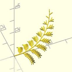 fern.JPG Download free STL file L-system 2D/3D Collection • 3D printing model, JustinSDK