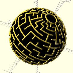 sphere_maze.jpg Download free STL file Sphere maze • 3D printer object, JustinSDK