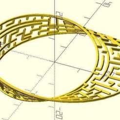 Download free 3D print files Mobius maze, JustinSDK