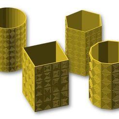 Descargar diseños 3D gratis Cuadrados hipnóticos, JustinSDK