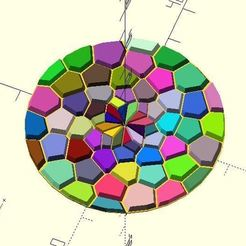 voronoi_fibonacci.JPG Download free STL file Voronoi & Fibonacci  • 3D printer object, JustinSDK
