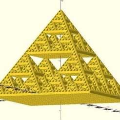 Imprimir en 3D gratis Pirámide de Sierpinski, JustinSDK