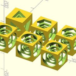 drilled_cube.jpg Download free STL file Drilled cube • 3D printer template, JustinSDK