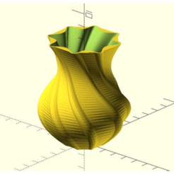 Imprimir en 3D gratis Jarrón para superfórmulas, JustinSDK
