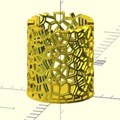 Download free 3D printer files Voronoi holder, JustinSDK