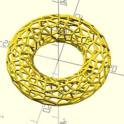 voronoi_torus.jpg Download free STL file Voronoi Torus • 3D printer model, JustinSDK