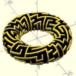 Download free 3D printing models Torus maze, JustinSDK