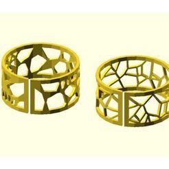 Télécharger STL gratuit Bracelet Voronoi, JustinSDK