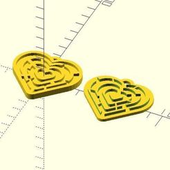 Download free 3D printer designs Heart 2 Heart maze, JustinSDK