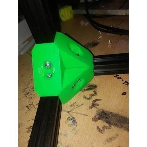 Descargar modelos 3D gratis Junta de extrusión de aluminio de 90 grados, TinkersProjects