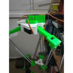 Download free STL files Servo Delta Robot, TinkersProjects