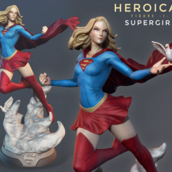 00.png Download STL file Heroicas - Figure 1 - Supergirl - 3D print model • 3D printable object, Luis3DArt