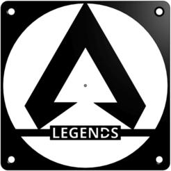 Screenshot (4).png Download STL file Apex Legends 120mm fan cover • Design to 3D print, Plankie1994