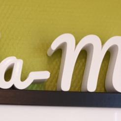 Download free 3D printing models Ella-Marie name in 3d, jamiednj