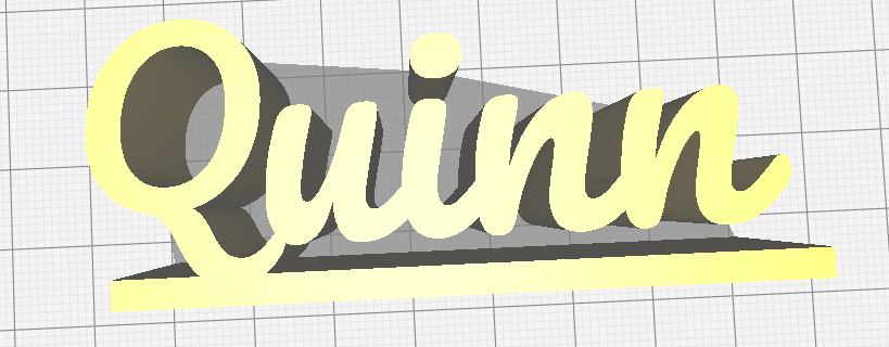 Quinn naam.PNG Télécharger fichier STL gratuit Nom Quinn avec plate-forme • Modèle pour impression 3D, jamiednj