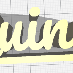 Download free 3D printer templates Quinn name with platform, jamiednj