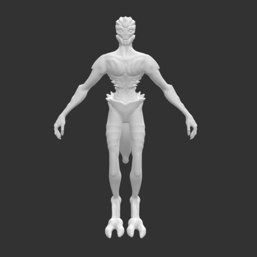 Download free STL file Rare Alien Creature • Template to 3D print, detaildesigner