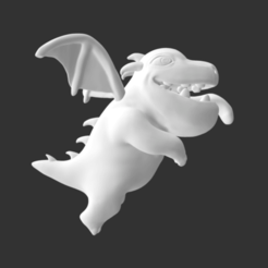 Download free 3D printer files Baby Dragon Clash of Clans/Clash Royale, detaildesigner
