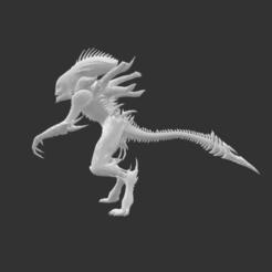 Download free STL files Giant Alien Creature, detaildesigner