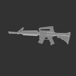 Download free 3D printing templates Assault Rifle Fortnite, detaildesigner