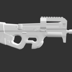 Download free STL file P90 Fortnite • 3D print model, detaildesigner