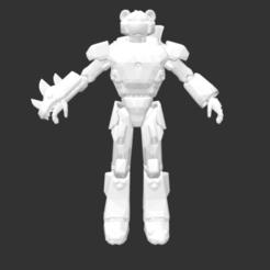 Download free 3D printing templates Mecha Team Leader, detaildesigner