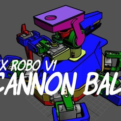 Download free 3D printer designs Hex Robo V1 Cannon Module, mwilmars
