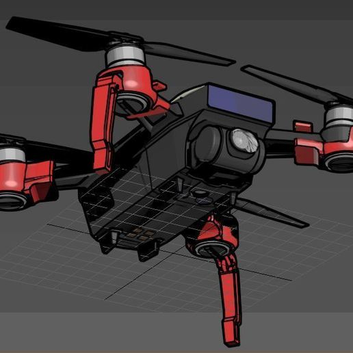 spider2.JPG Download free STL file DJI Spark Foldable Spider Leg • Model to 3D print, mwilmars