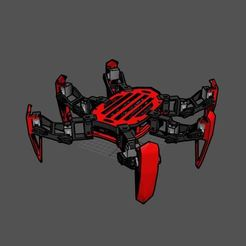 Download free 3D printing templates Sword leg Hexapod Robot, mwilmars