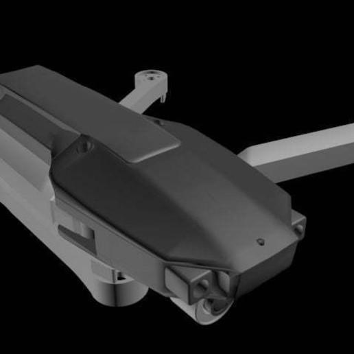 1.jpg Download free STL file Foldable drone frame (Mavic look like, body & head alternative) Remix • 3D printer model, mwilmars