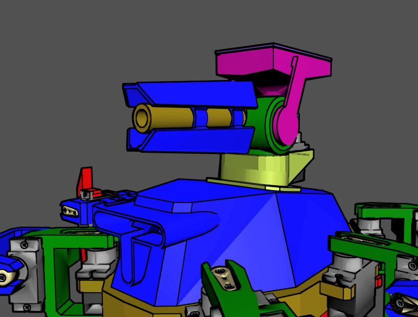 1.JPG Download free STL file Hex Robo V1 Cannon Module • 3D printing object, mwilmars