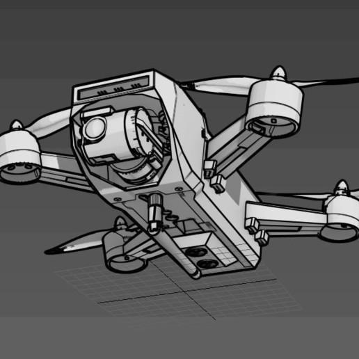 Sprank.JPG Télécharger fichier STL gratuit Drone Sprank (bourdon de course avec cardan à came) • Objet pour impression 3D, mwilmars
