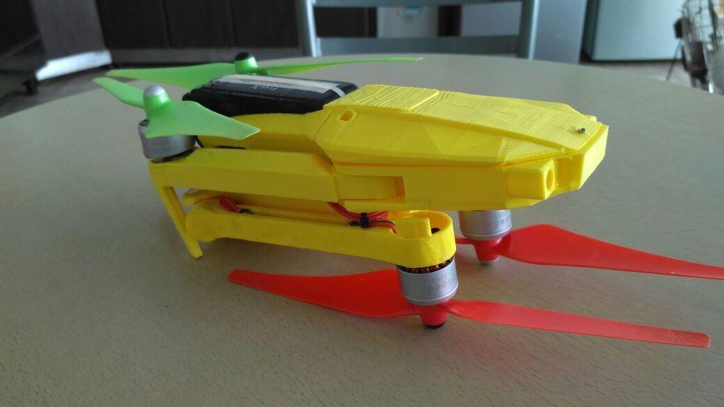 FBBY788IWH393AL.LARGE.jpg Download free STL file Foldable drone frame (Mavic look like, body & head alternative) Remix • 3D printer model, mwilmars